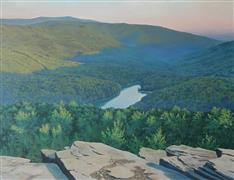 Impressionism art,Realism art,Representational art,oil painting,Mountain Lake