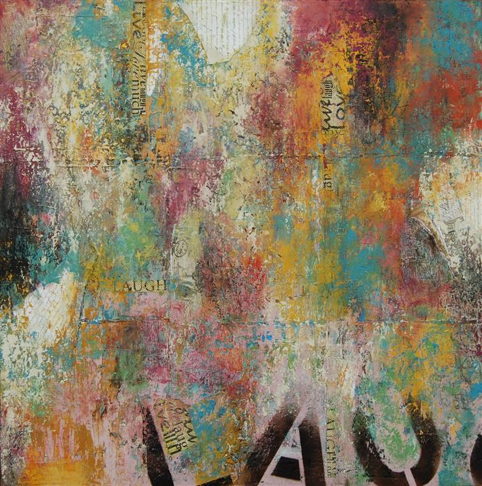 Discover Original Art by Janet Hamilton | Laugh oil painting | Art for Sale Online at UGallery