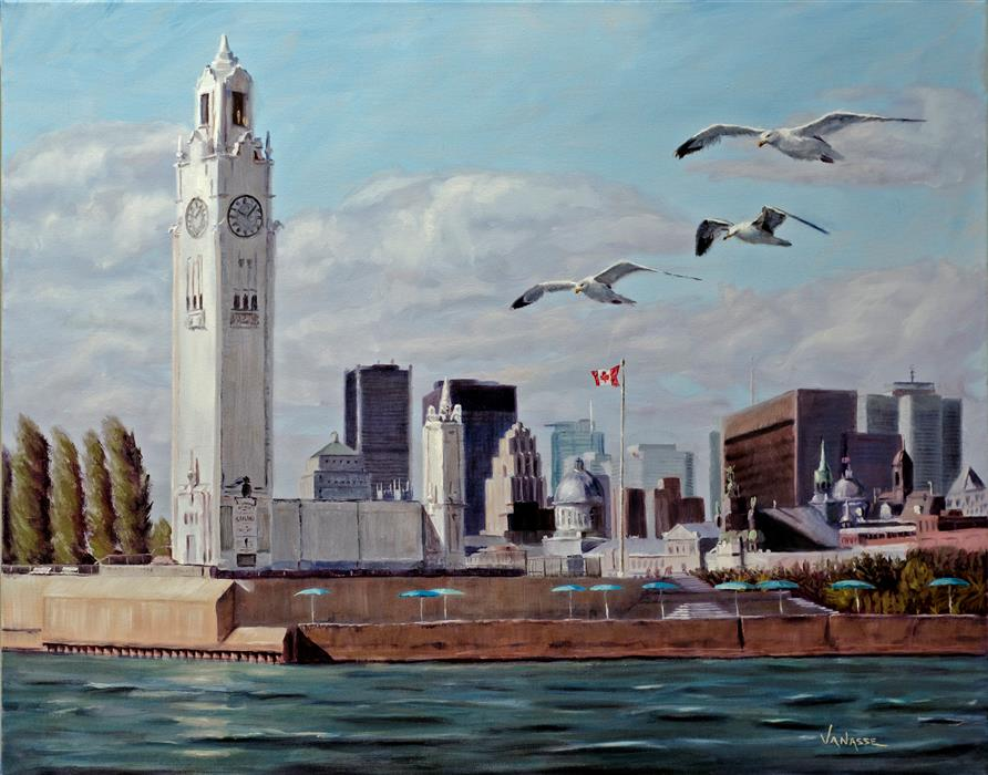 Original art for sale at UGallery.com | Sailing in the Old Port of Montreal by ERIC VANASSE | $1,300 | Oil painting | 24' h x 30' w | http://www.ugallery.com/oil-painting-sailing-in-the-old-port-of-montreal