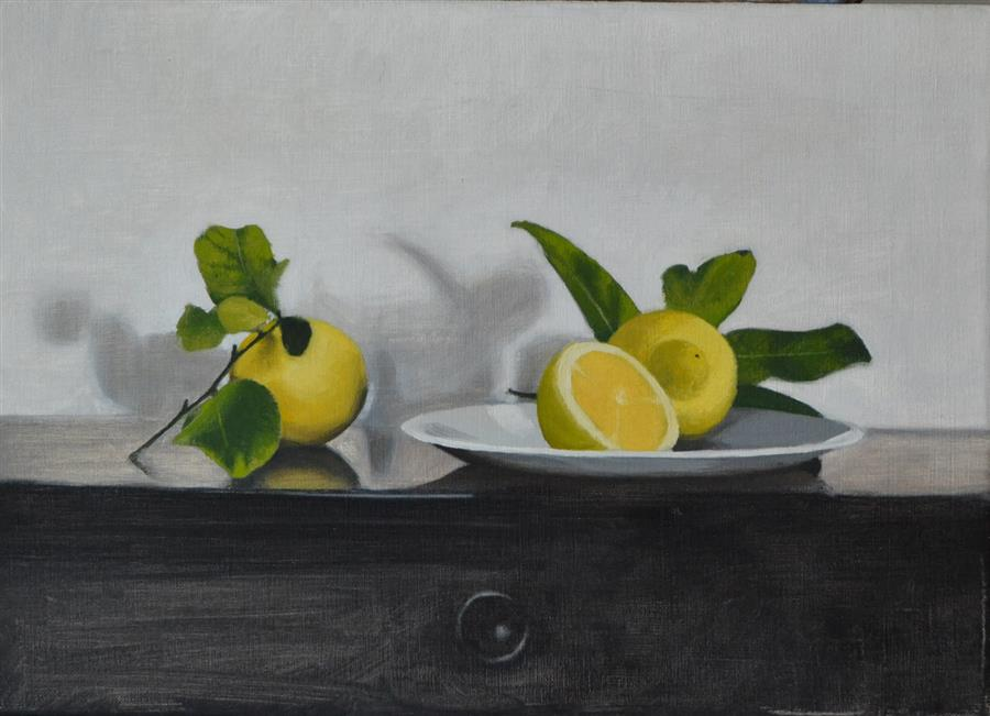 Discover Original Art by Christopher Garvey | Lemons oil painting | Art for Sale Online at UGallery