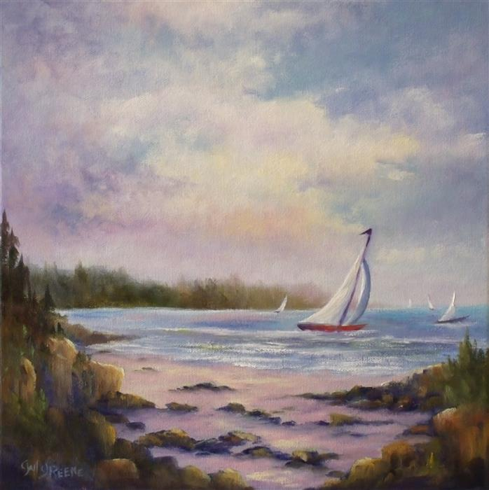 Discover Original Art by Gail Greene | Summer Breeze oil painting | Art for Sale Online at UGallery