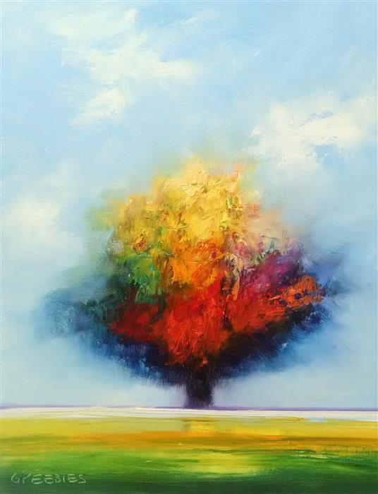 Original art for sale at UGallery.com | Brilliant Tree by GEORGE PEEBLES | $750 | Oil painting | 28' h x 22' w | http://www.ugallery.com/oil-painting-brilliant-tree