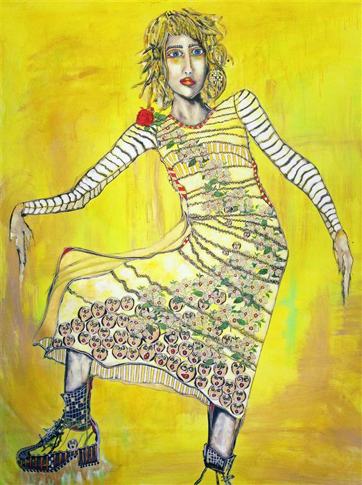 Original art for sale at UGallery.com | The Sun Will Come Out by PENELOPE PRZEKOP | $4,725 | Acrylic painting | 56' h x 42' w | http://www.ugallery.com/acrylic-painting-the-sun-will-come-out