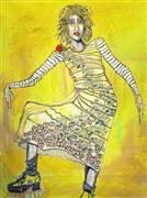 Expressionism art,People art,Fashion art,Representational art,acrylic painting,The Sun Will Come Out