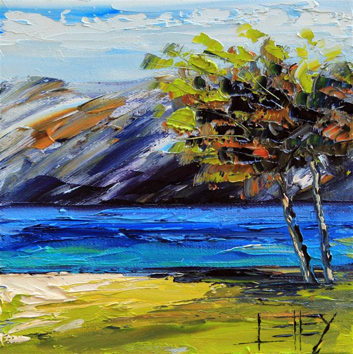 Discover Original Art by Lisa Elley | The Bay Area oil painting | Art for Sale Online at UGallery