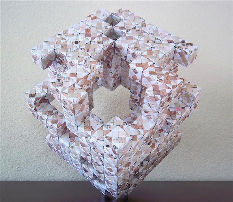 Discover Original Art by Vance Houston   Original Origami Sculpture: Elephant Face sculpture   Art for Sale Online at UGallery