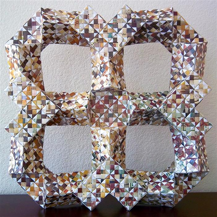 Original art for sale at UGallery.com | Intersecting Rectangular Octagons by VANCE HOUSTON | $700 | Sculpture | 18' h x 4.5' w | http://www.ugallery.com/sculpture-intersecting-rectangular-octagons
