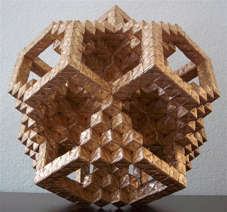 Original art for sale at UGallery.com | Evolved Geometry: 16x16 Cubic Grid by VANCE HOUSTON | $2,925 | Sculpture | 17' h x 17' w | http://www.ugallery.com/sculpture-evolved-geometry-16x16-cubic-grid