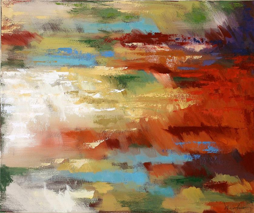 Discover Original Art by Naoko Paluszak |  Reflection VIII oil painting | Art for Sale Online at UGallery