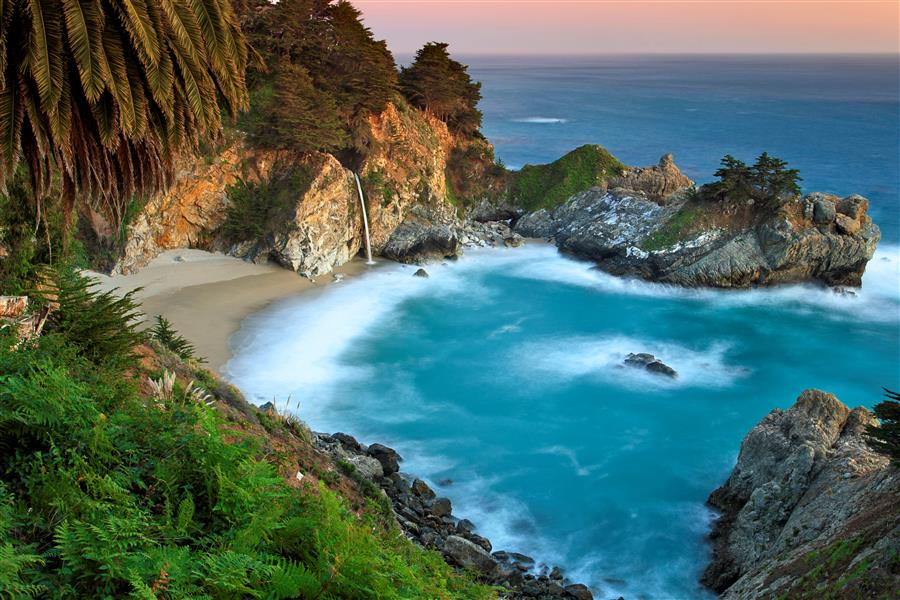 Original art for sale at UGallery.com | McWay Falls Sunset by KATHERINE GENDREAU | $195 |  | ' h x ' w | http://www.ugallery.com/photography-mcway-falls-sunset