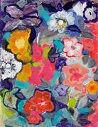 Impressionism art,Flora art,Representational art,mixed media artwork,Flowers 4