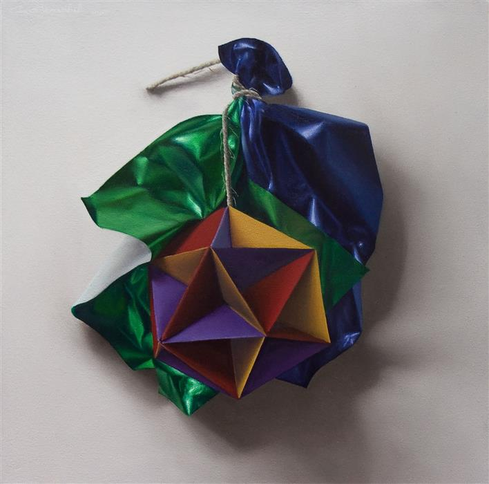 Original art for sale at UGallery.com | Dodecahedron by DANIEL CARO | $775 | Oil painting | 15.5' h x 15.5' w | http://www.ugallery.com/oil-painting-dodecahedron
