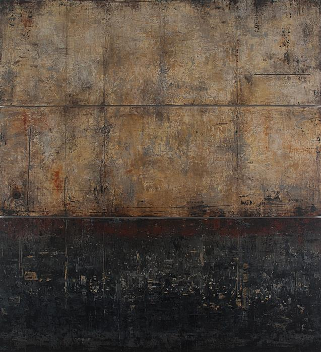 Original art for sale at UGallery.com | Fortress - Stone City Series by PATRICIA OBLACK | $6,350 | Mixed media artwork | 52' h x 48' w | http://www.ugallery.com/mixed-media-artwork-fortress-stone-city-series