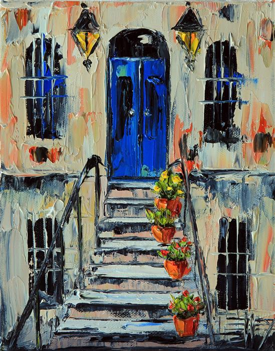 Discover Original Art by Lisa Elley | Une Maison de Paris oil painting | Art for Sale Online at UGallery