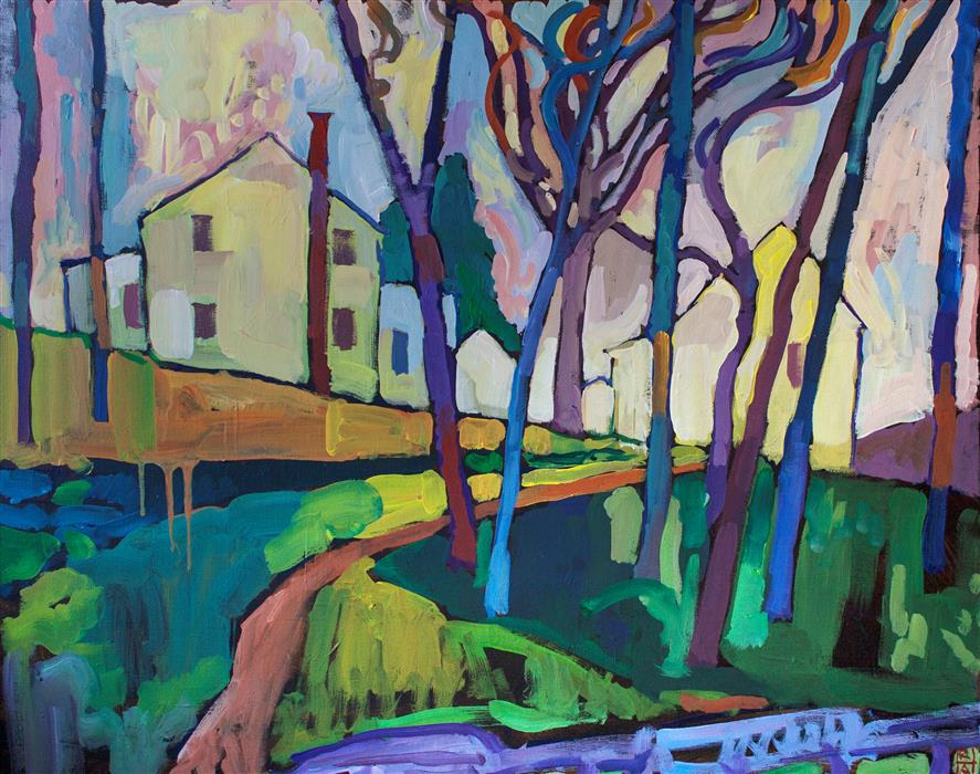 Original art for sale at UGallery.com | Marticville by ROBERT HOFHERR | $1,050 | Acrylic painting | 24' h x 30' w | http://www.ugallery.com/acrylic-painting-marticville