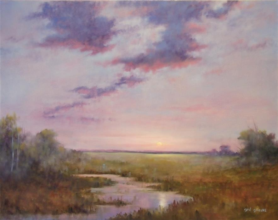 Original art for sale at UGallery.com | Sunrise Solitude by GAIL GREENE | $900 | Oil painting | 22' h x 28' w | http://www.ugallery.com/oil-painting-sunrise-solitude