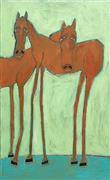 Expressionism art,Animals art,Representational art,acrylic painting,Caution Horses