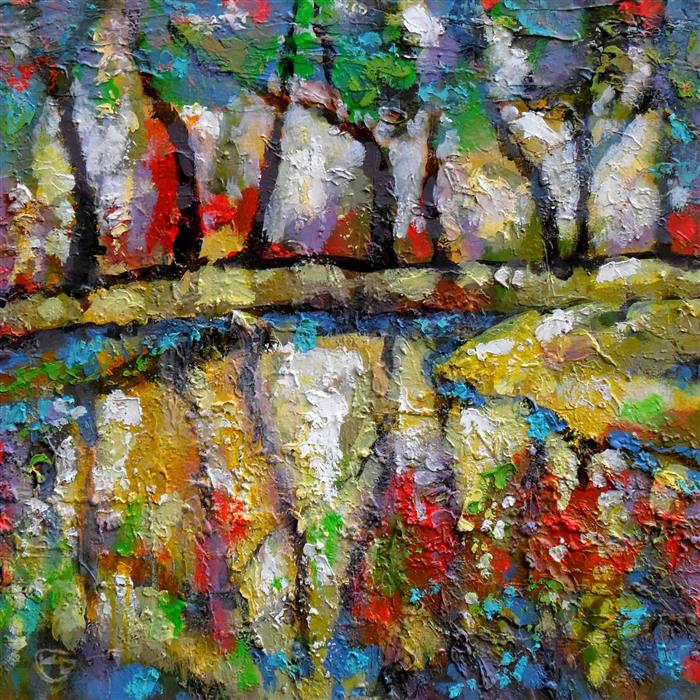 Discover Original Art by Kip Decker | River Sparkle acrylic painting | Art for Sale Online at UGallery
