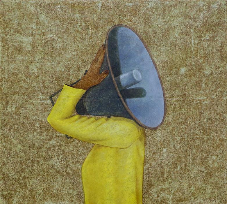 Discover Original Art by Sanjay Sharma | Boom Box Carrier oil painting | Art for Sale Online at UGallery