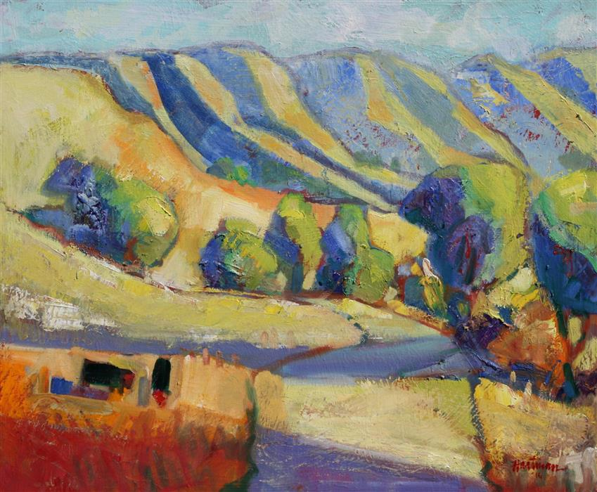 Original art for sale at UGallery.com | Carmel Valley Road by JAMES HARTMAN | $800 | Oil painting | 20' h x 24' w | http://www.ugallery.com/oil-painting-carmel-valley-road