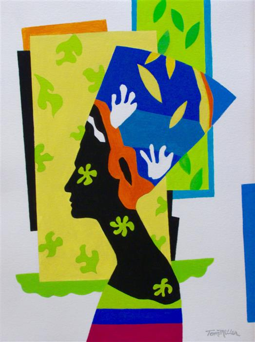 Discover Original Art by Tom Miller | Dreaming of Matisse acrylic painting | Art for Sale Online at UGallery