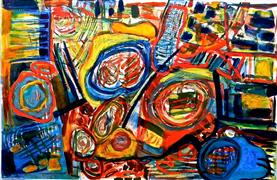Abstract art,Expressionism art,Non-representational art,printmaking,Gourds