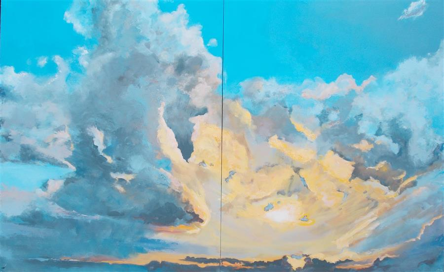 Discover Original Art by Benjamin  Thomas | Sky Candy acrylic painting | Art for Sale Online at UGallery