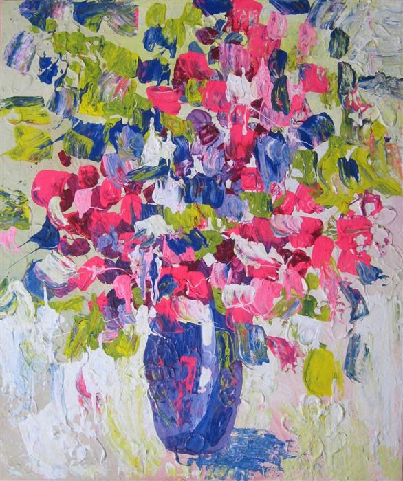 Discover Original Art by Natasha Tayles | Vase with Flowers acrylic painting | Art for Sale Online at UGallery