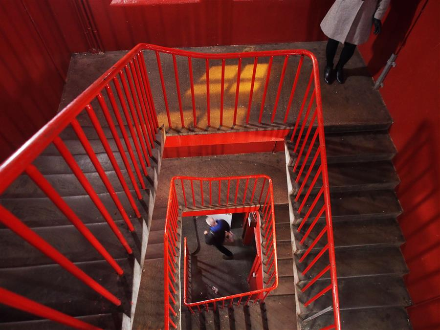 Original art for sale at UGallery.com | Red Stairs by DMITRY STEPANENKO | $195 |  | ' h x ' w | http://www.ugallery.com/photography-red-stairs