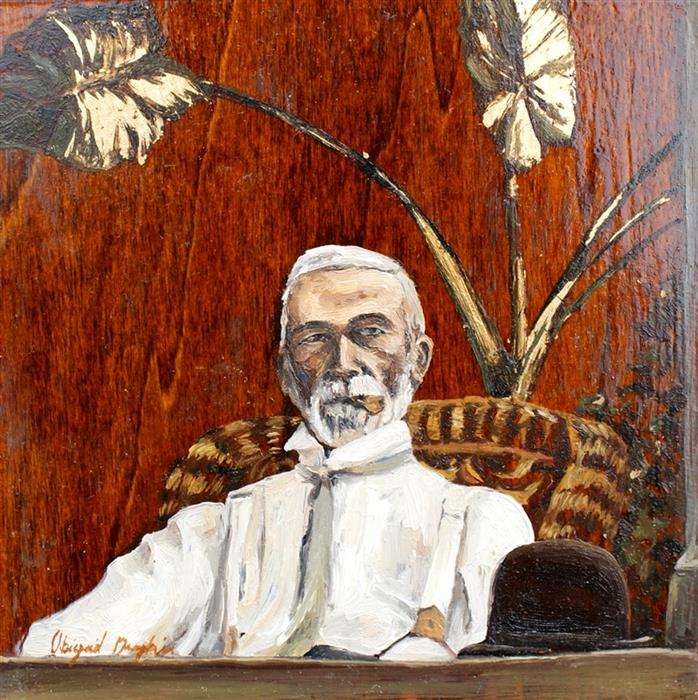 Discover Original Art by Abigail Drapkin | The Colonel oil painting | Art for Sale Online at UGallery