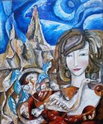 Fantasy art,People art,Representational art,oil painting,Lady from the Mountain
