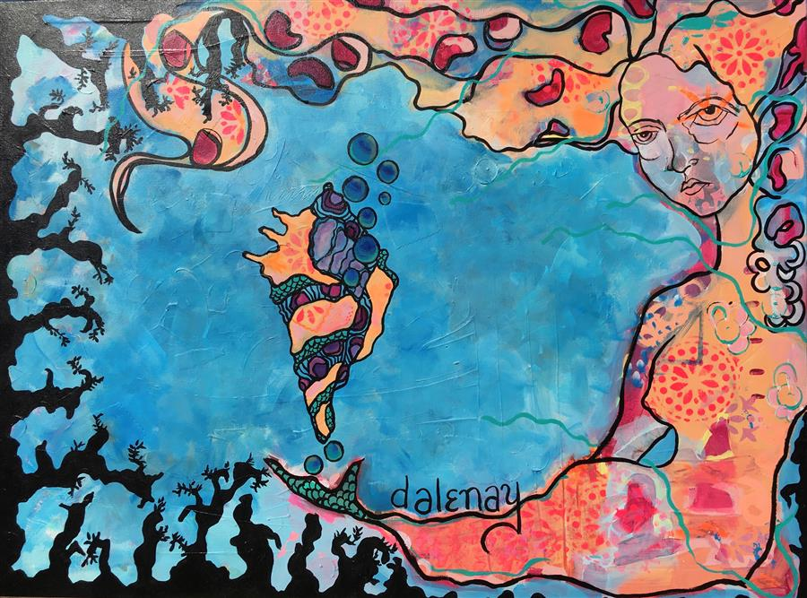 Discover Original Art by Dalene Woodward | Siren's Song acrylic painting | Art for Sale Online at UGallery