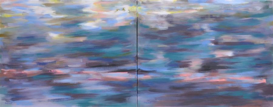 Original art for sale at UGallery.com | Cold Disturbance by CLÉMENT NIVERT | $4,350 | Oil painting | 29' h x 72' w | http://www.ugallery.com/oil-painting-cold-disturbance
