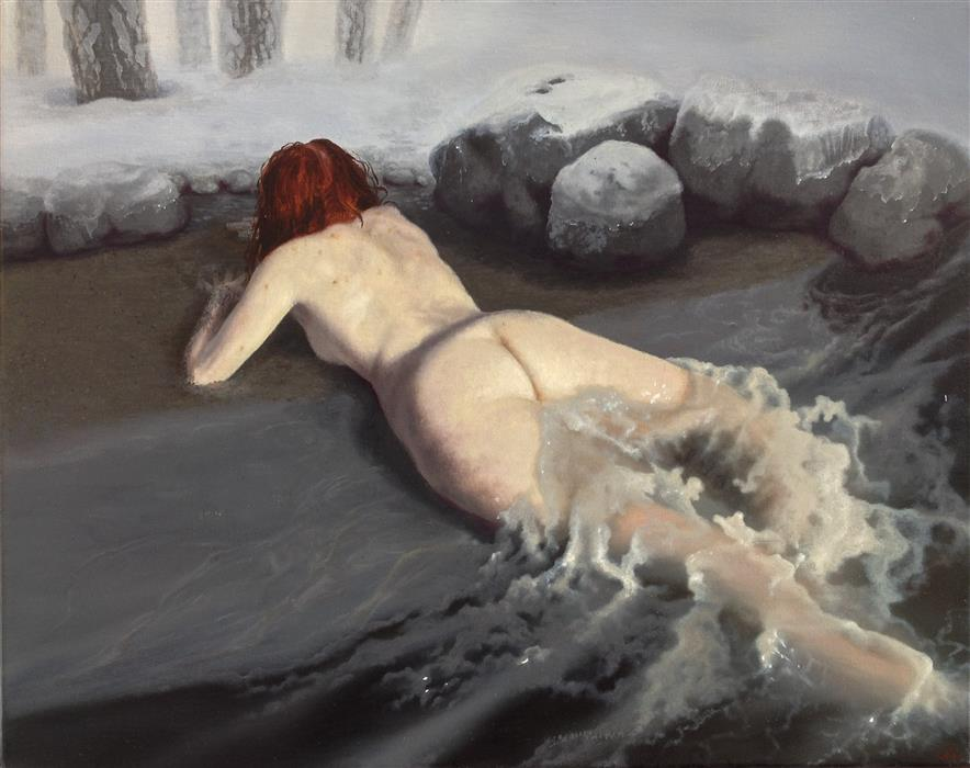 Discover Original Art by Jonathan Cole | Water Woman 1 oil painting | Art for Sale Online at UGallery