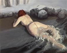 Expressionism art,Fantasy art,Nudes art,Realism art,Representational art,oil painting,Water Woman 1