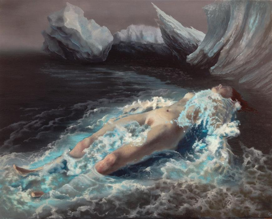 Discover Original Art by Jonathan Cole | Water Birth 2 oil painting | Art for Sale Online at UGallery