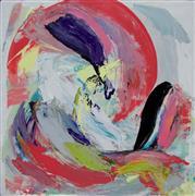 Abstract art,Expressionism art,Non-representational art,Modern  art,mixed media artwork,Spring Fever