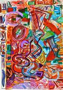 Abstract art,Expressionism art,Non-representational art,printmaking,Guitar Frenzy