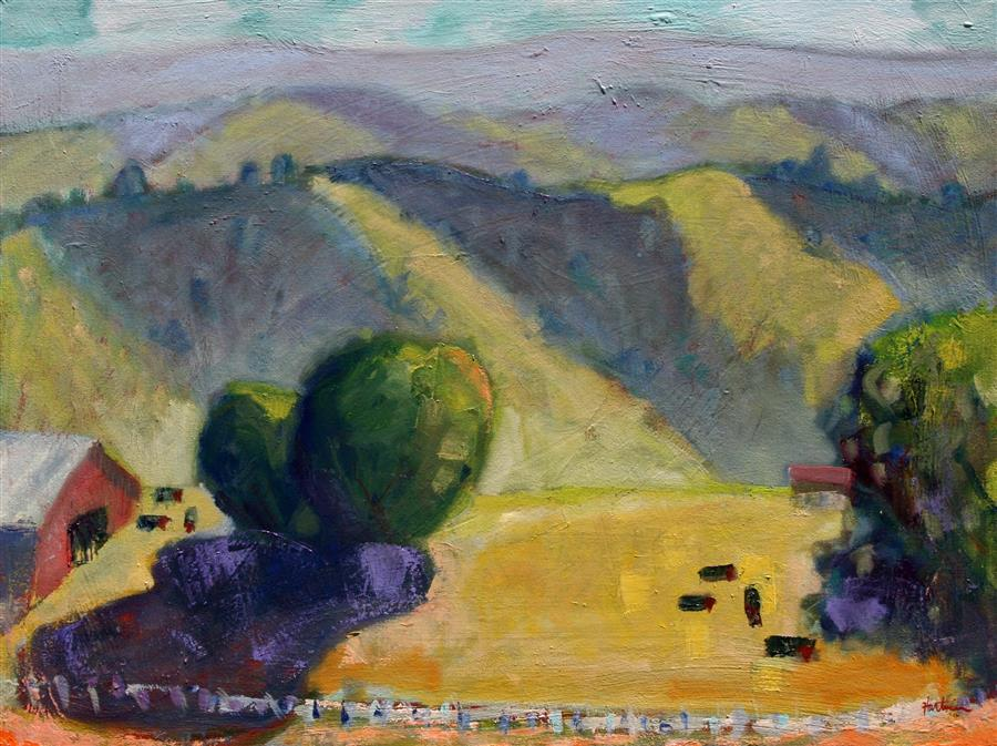 Original art for sale at UGallery.com | Mt. Diablo, 1000 Feet by JAMES HARTMAN | $1,975 | Oil painting | 30' h x 40' w | http://www.ugallery.com/oil-painting-mt-diablo-1000-ft