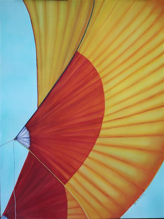 Original art for sale at UGallery.com | Mango Spinnaker by JJ GALLOWAY | $575 | Watercolor painting | 24' h x 18' w | http://www.ugallery.com/watercolor-painting-mango-spinnaker