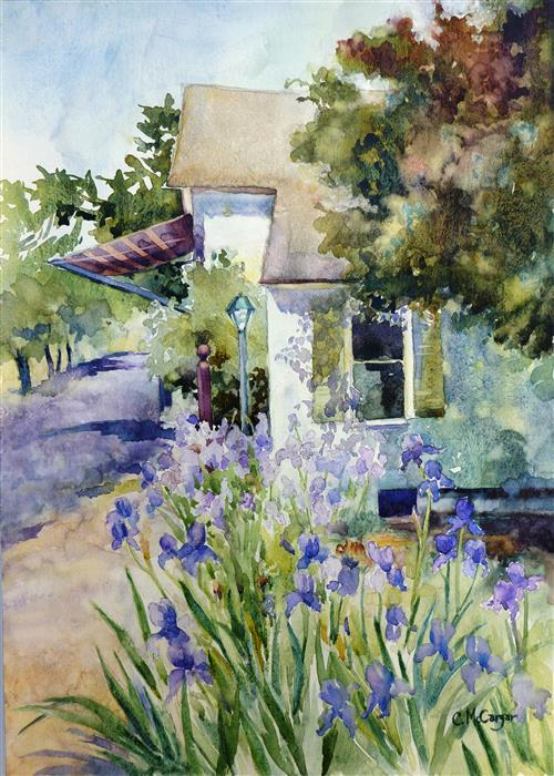 Discover Original Art by Catherine McCargar | French Laundry watercolor painting | Art for Sale Online at UGallery
