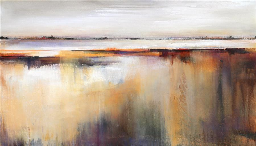 Discover Original Art by Karen Hale | Long Distance acrylic painting | Art for Sale Online at UGallery