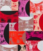 Abstract art,Pop art,Non-representational art,Modern  art,acrylic painting,Red Eclipse