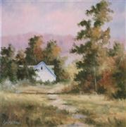 Impressionism art,Landscape art,Representational art,oil painting,Between the Trees
