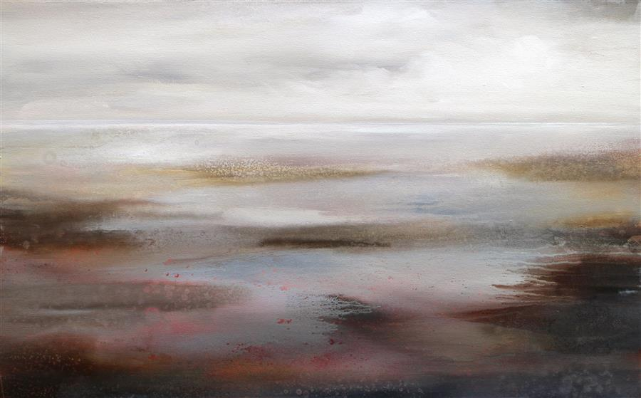 Original art for sale at UGallery.com | Serene Image by KAREN HALE | $3,150 | Acrylic painting | 30' h x 48' w | http://www.ugallery.com/acrylic-painting-serene-image