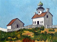 Architecture art,Impressionism art,Landscape art,Representational art,oil painting,On the Coast