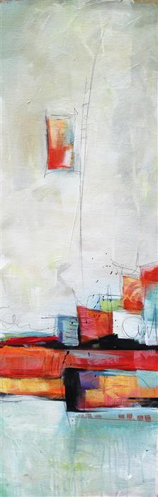 Original art for sale at UGallery.com | High Spirits II by KAREN HALE | $975 | Acrylic painting | 36' h x 12' w | http://www.ugallery.com/acrylic-painting-high-spirits-ii