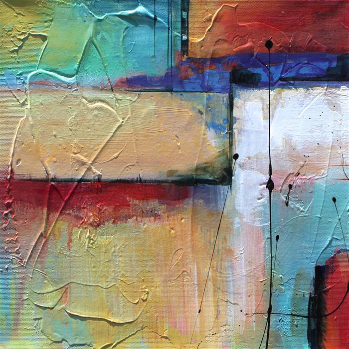 Original art for sale at UGallery.com | Aligned I by KAREN HALE | $350 | Acrylic painting | 12' h x 12' w | http://www.ugallery.com/acrylic-painting-aligned-i