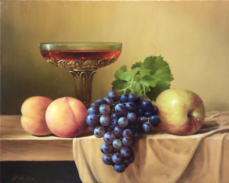 Original art for sale at UGallery.com | Fruits by NIKOLAY RIZHANKOV | $1,275 | Oil painting | 16' h x 20' w | http://www.ugallery.com/oil-painting-fruits