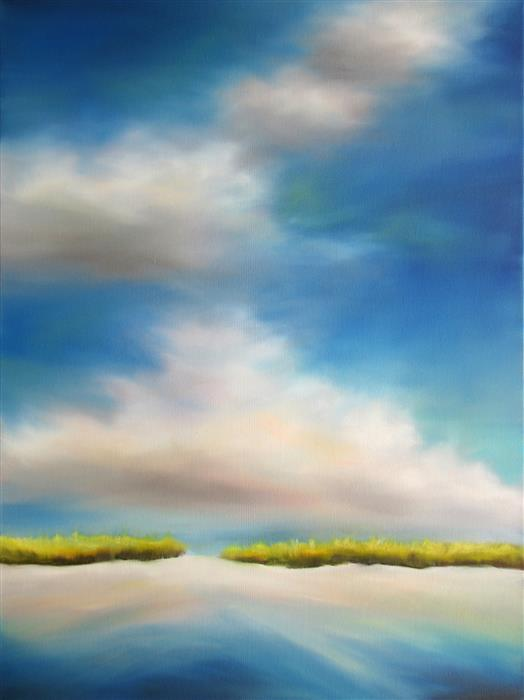 Original art for sale at UGallery.com | Dune Clouds II by NANCY HUGHES MILLER | $875 | Oil painting | 24' h x 18' w | http://www.ugallery.com/oil-painting-dune-clouds-ii